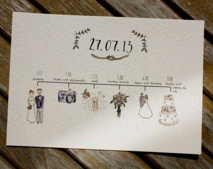 Idée faire part mariage fait main