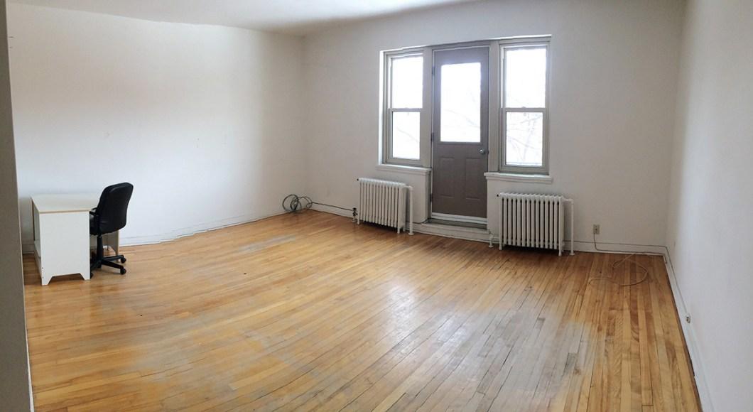 appartement bien vide!