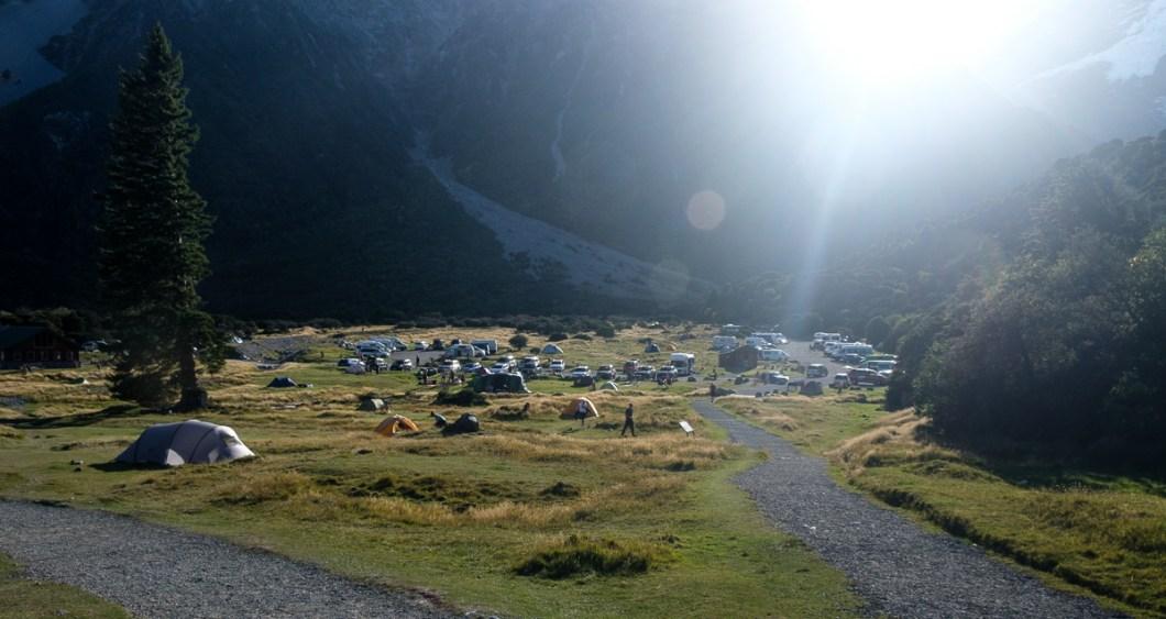 camping mont cook nouvelle zélande