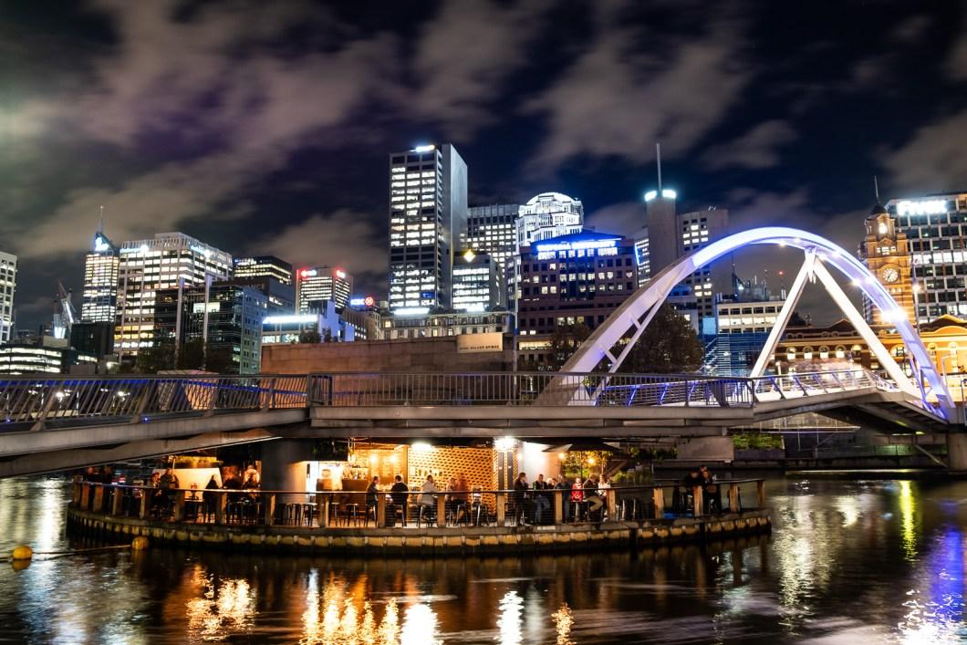 melbourne ville nuit australie