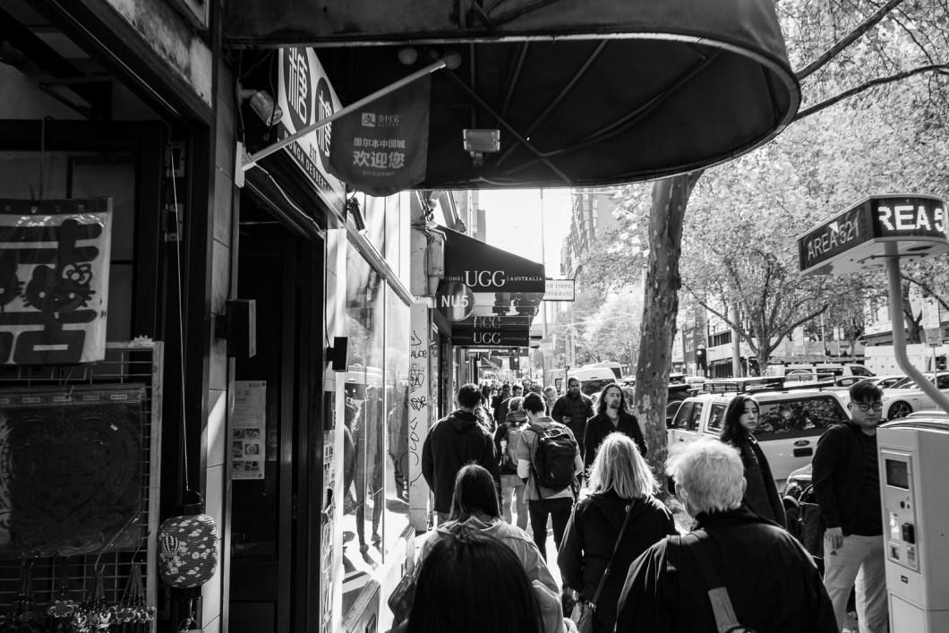 melbourne en noir et blanc australie ville