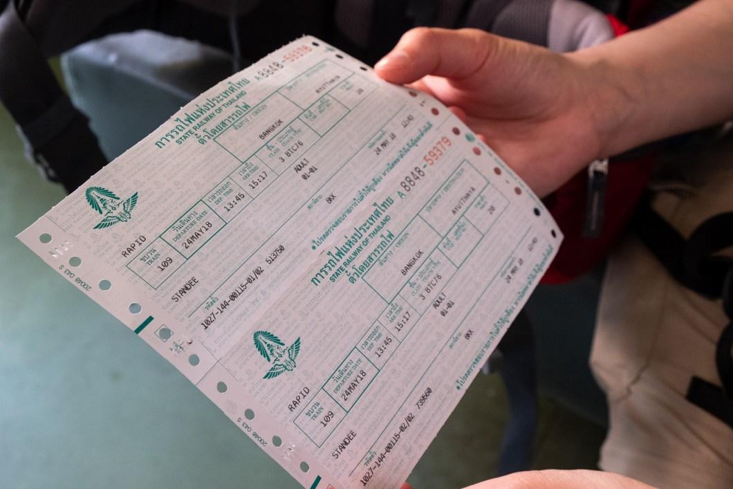 billet train thailande