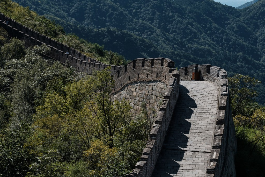détail de la grande muraille de chine mur