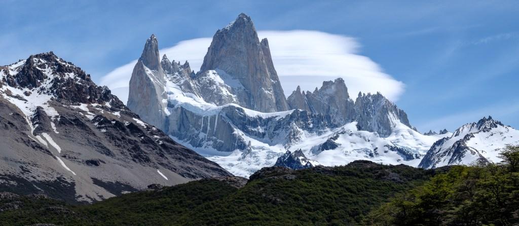 fitzroy montagne paysage patagonie el chaltén sommet neige