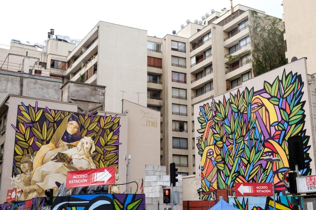 grafiti santiago chili ville capitale