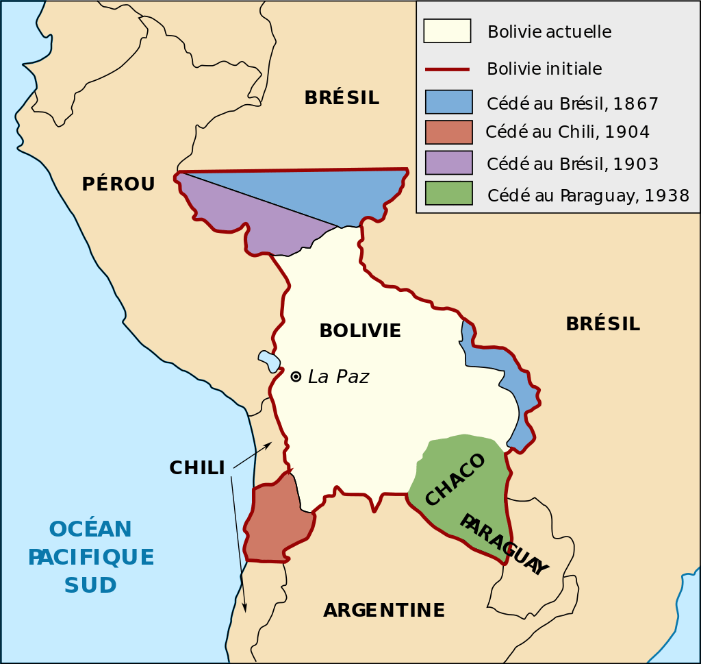 carte bolivie territoire perdu