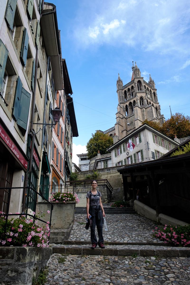 escaliers du marché lausanne suisse
