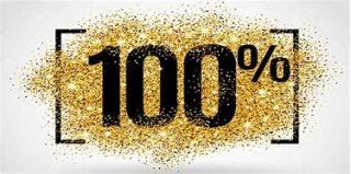 100%のイメージ写真