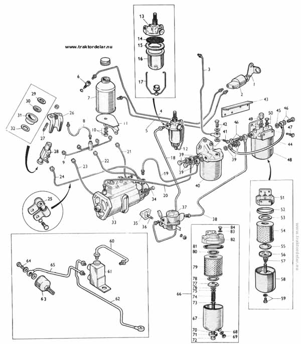 Wiring Diagrams : Massey Ferguson 165 Tractor Parts