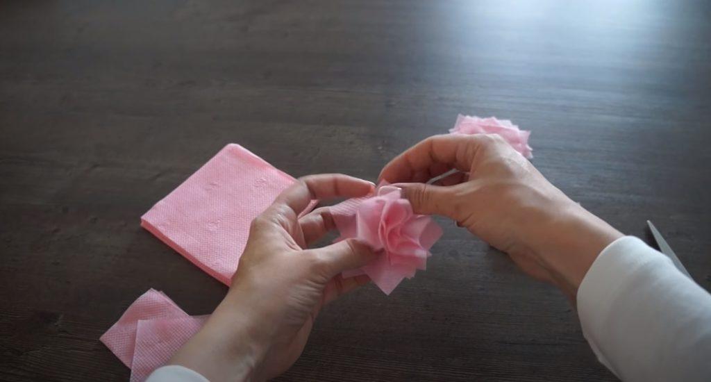 Conectar partes de servilletas
