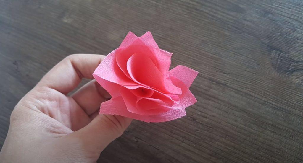 Listo flor de servilletas