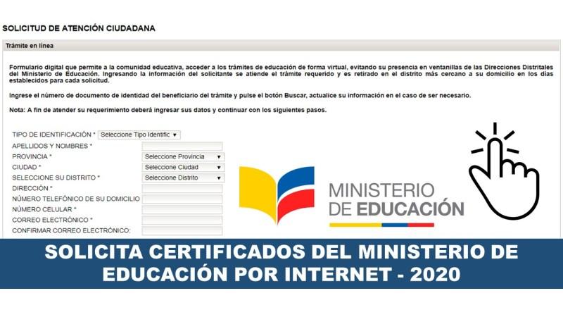 Certificados del Ministerio de Educación por Internet