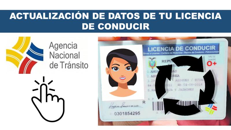 Actualización de Datos de tu Licencia de Conducir