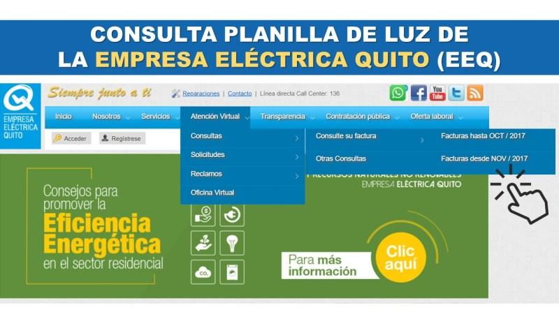 Consulta Planilla de Luz de la Empresa Eléctrica Quito (EEQ)