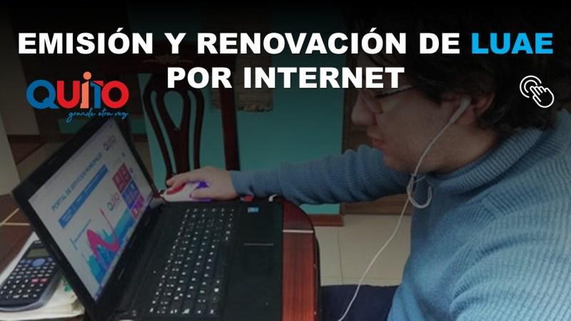 Emisión y Renovación de LUAE por Internet