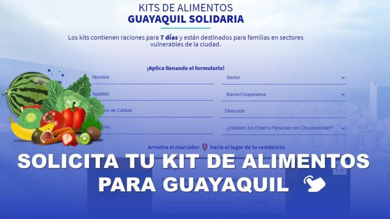 Solicita tu Kit de Alimentos para Guayaquil