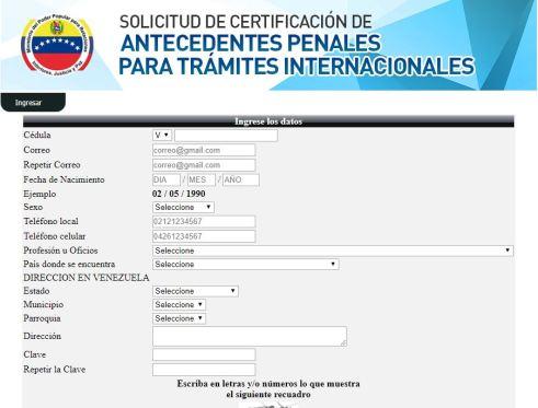 Certificado De Antecedentes Penales Tramites Públicos