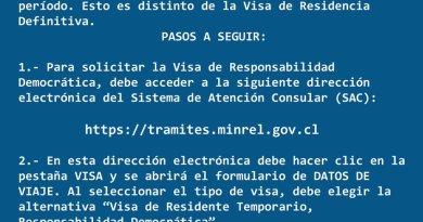 Visa de Responsabilidad Democrática para Chile – Paso a Paso