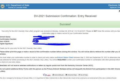 Lotería de visas diversidad DV- 2021 Green Card