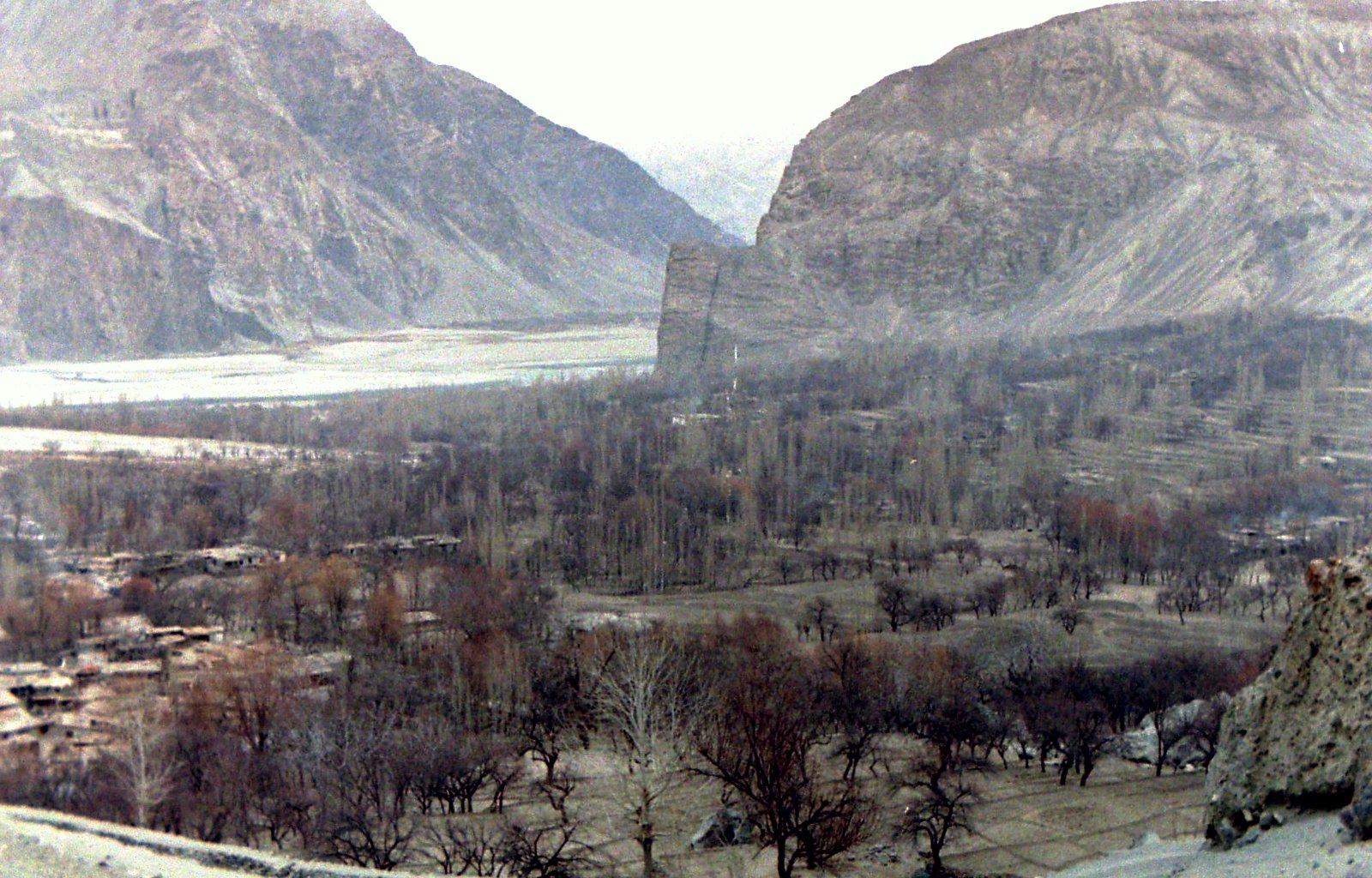 Winter View of Khaplu, Baltistan, Dec.1987