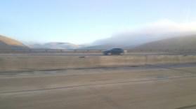 Highway. Freeway, Yosemite, fog, morning