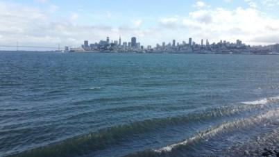 San Francisco, California, Alcatraz, ferry, city, skyline, water,