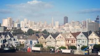 California, San Francisco, Skyline, skyscrapers, postcard, view,