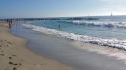 Los Angeles, waves, beach, Santa Monica,