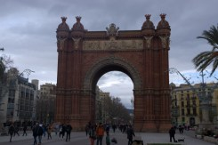 Arc de Triomf. Slightly different from the one in Paris.