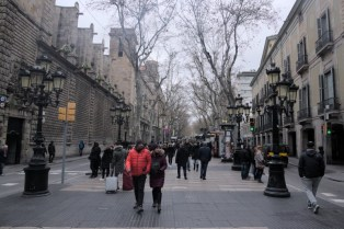 Las Ramblas. Locals don't like the street. Its aimed for tourists and everything is pricy there. It's nice to walk around.