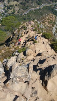 Look down at Lion's Head trail