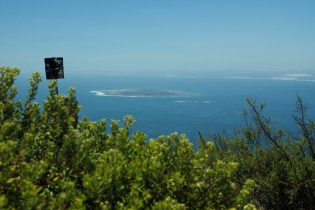 Robben Island seen from Lions Head, Cape Town, South Africa