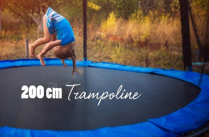 trampolin 200 cm trampoline mit 2 meter durchmesser online kaufen