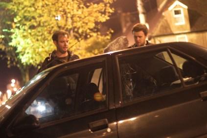 Director Tom Ryan with Cian O Brien.