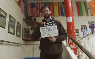 Director Tom Ryan filming a scene at St Josephs CBS Secondary School Nenagh.