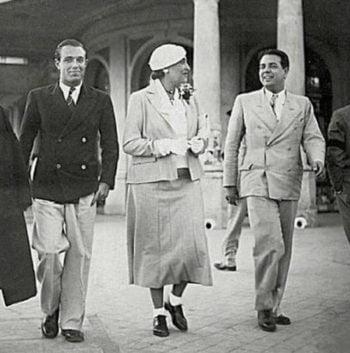 Adolfo Bioy Casares, Victoria Ocampo med Borges 1935 (Wikipedia)