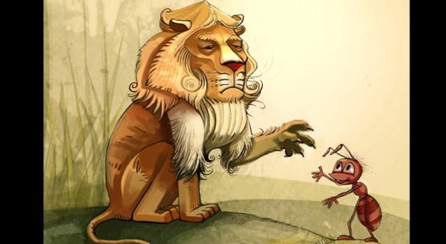 Câu chuyện ngụ ngôn về Kiến và Sư tử