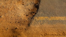 Fin d'une étape : ripio -> asfalto