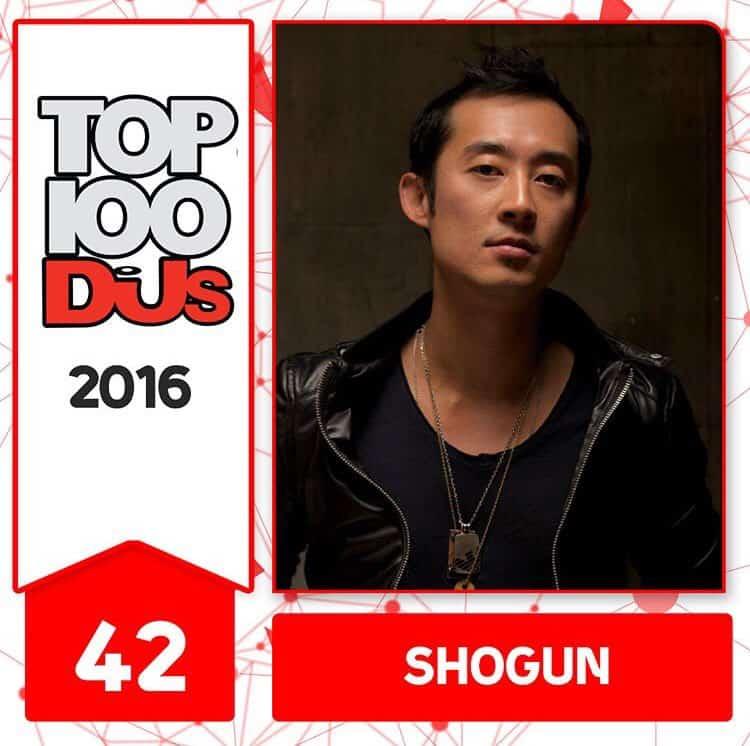 Shogun at No.42 of the DJ Mag 100 2016