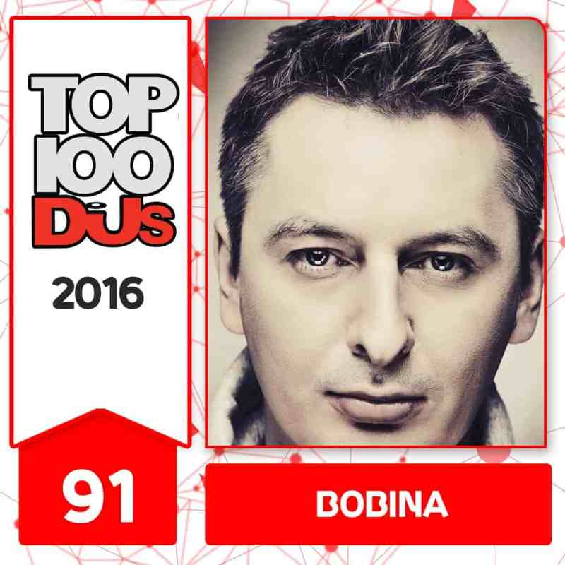 Bobina at No.91 of the DJ Mag 100 2016
