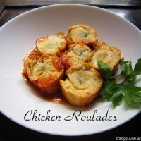 Chicken Roulades in Basic Tomato Sauce