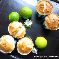 Eggless Lime Yogurt Muffins