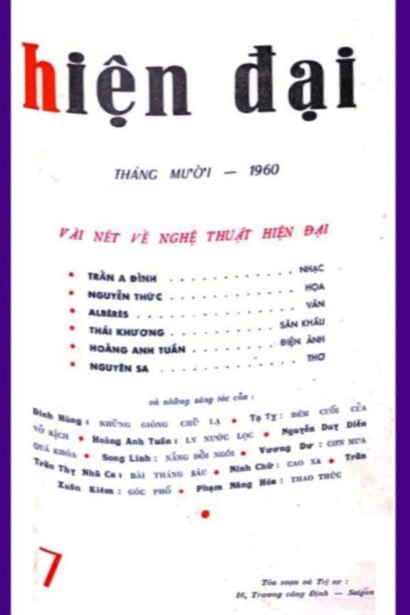 Hiện đại số 7 tháng 10-1960