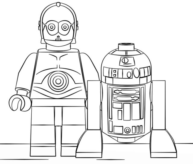 Lego Star Wars Coloring Pages Rd