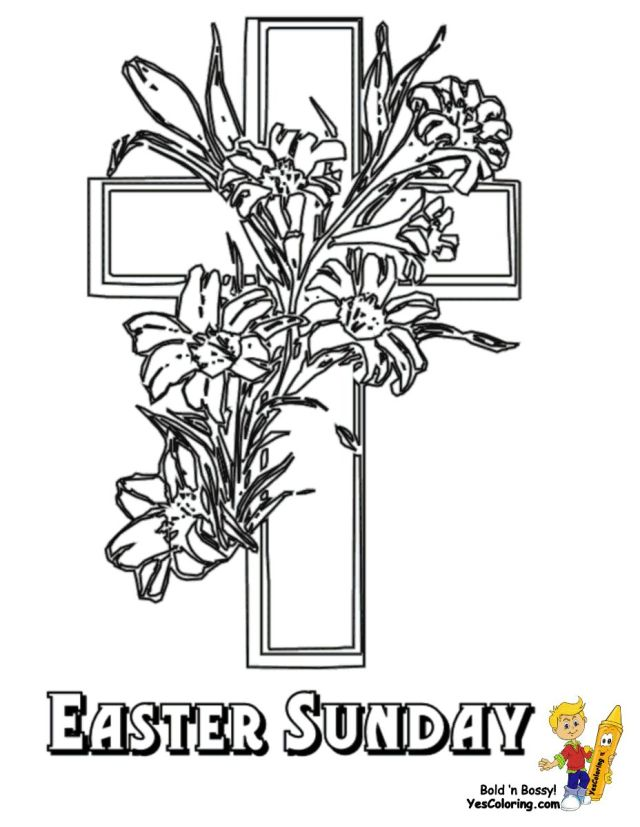 Easter Lily Coloring Page - Part 25