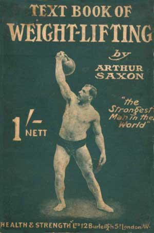 Framsidan på boken text book of weight-lifting
