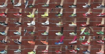 Olika fotisättningar under ett 10000 meters OS-kvallopp