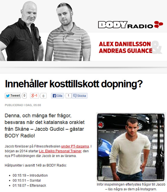 Jacob Gudiol i BODY-radio