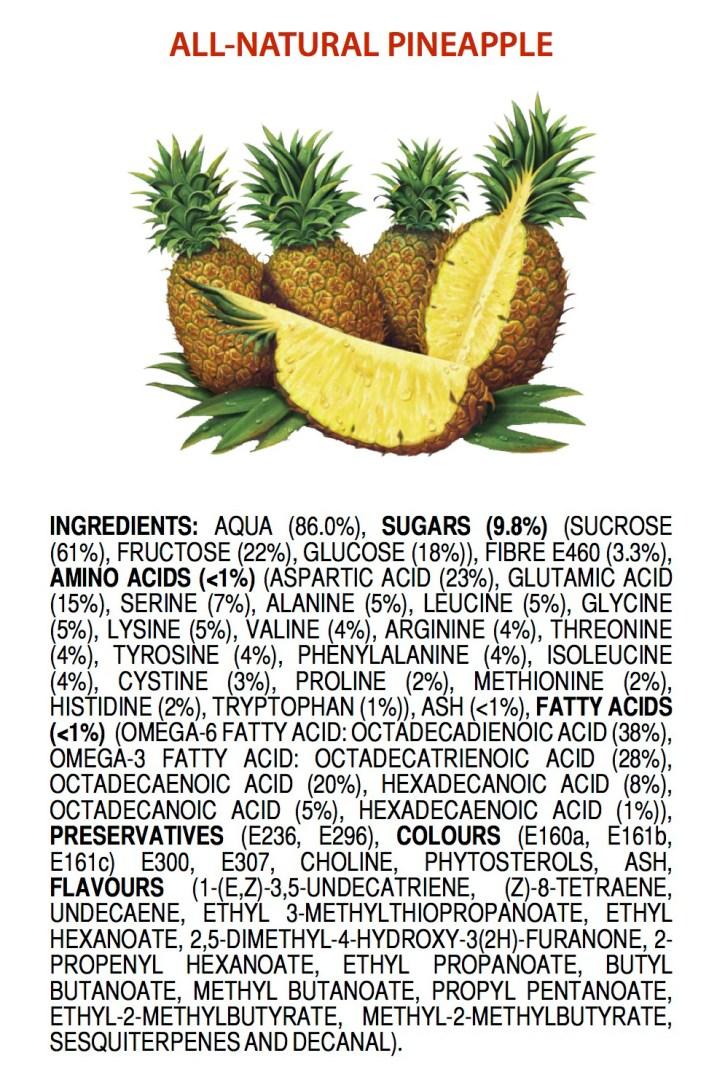 Helt naturliga ingredienser i en ananas