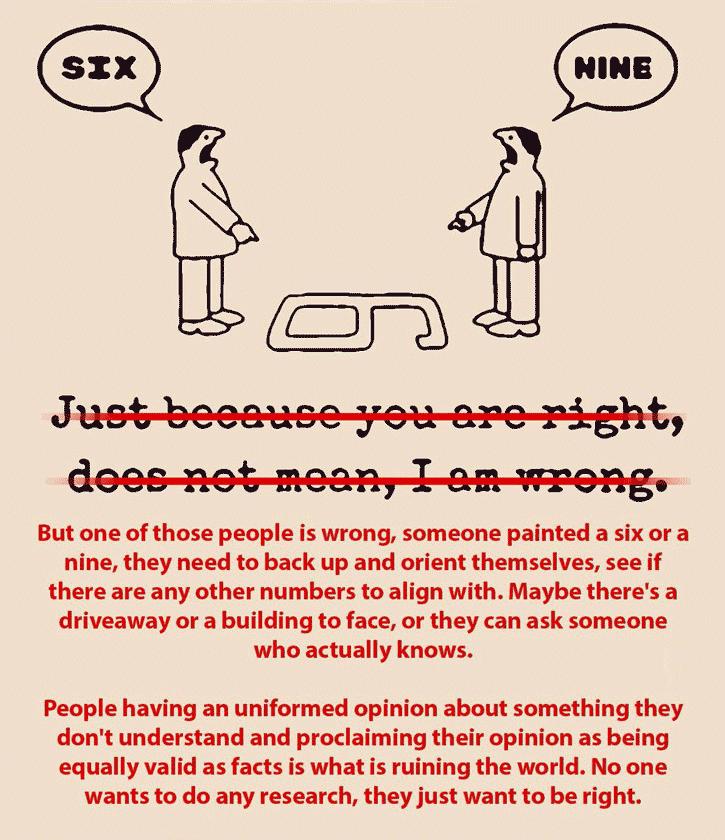 Alla åsikter är inte alltid lika rätt